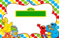 Awesome FREE Sesame Street Birthday Invitations Free Printable