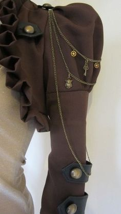 Brown Steam Bolero Jacket Steampunk Victorian by blackmirrordesign on etsy by leta