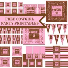 FREE Cowgirl Birthday Party Printables from Printabelle | Catch My Party