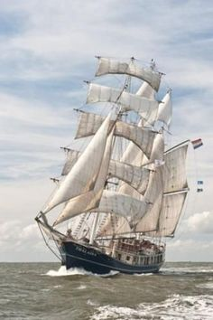 "SS ""Thalassa"" a barquentine sailing ship from the Netherlands - The Culture 2011 Tall Ships Regatta:"