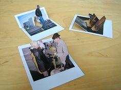 3D pop-up polaroids by Marcus Kison