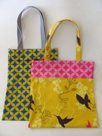 Needle and Spatula: Easy Tote Bag Sewing Tutorial