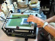 Máquina Serigráfica Circular - YouTube