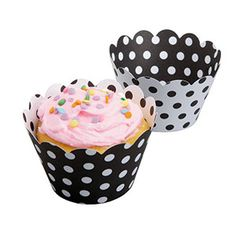 Hoffmaster 611131 Black / White Reversible Cupcake Wrappers 250 / CS