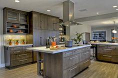 Clean, contemporary warm kitchen - contemporary - kitchen - san diego - Kristin Lam Interiors - porcelain floors that look like wood? Contemporary Kitchen Design, Contemporary Kitchen, Kitchen Remodel Small, Kitchen Inspirations, Best Kitchen Designs, Modern Kitchen, New Kitchen, Clean Kitchen, Warm Kitchen