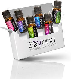 Zevana Top Essential Oil Blends (6-Pack) Soothing Essential Oils Essential oils spread refreshing scents when used in a diffuser or around the house Enjoy six of the most popular oil blends  Scents Up...