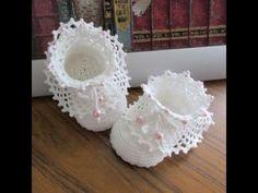 zapato para bebe basico punto alto, ganchillo , crochet - YouTube