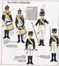 French; Imperial Guard Pupils, Head of Column, drummers & Drum Majors c.1812