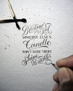 tiny hand-lettered messages