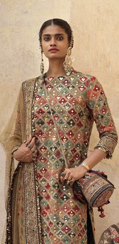 Sabyasachi outfit inspo for guests to a mehndi Pakistani Party Wear Dresses, Pakistani Wedding Outfits, Indian Gowns Dresses, Pakistani Dress Design, Dress Indian Style, Indian Wear, Indian Designer Outfits, Indian Outfits, Traditional Fashion