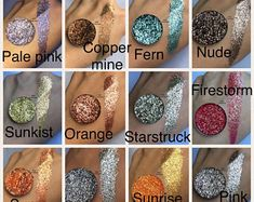 The whole collection pressed glitter eyeshadow, 26mm magnetic pans, cosmetic grade glitter, 53 pans, 1 jar