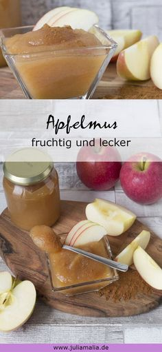 Apfelmus Grundrezept – fruchtig und lecker With this recipe you can make applesauce yourself quickly and easily. It tastes incredibly delicious and you know what's inside. Healthy Eating Tips, Healthy Nutrition, Food Porn, Dessert Blog, Vegetable Drinks, Diy Food, Sauce Recipes, Healthy Desserts, Cupcake Cakes