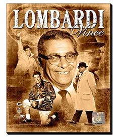 Vince Lombardi Canvas Framed Over With 2 Inches Stretcher Bars-Ready To Hang- Awesome & Beautiful-