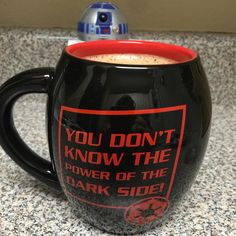 """You don't know the power of the #DarkSide...of #coffee!"" (Actual quote from #DarthVader on #NationalCoffeeDay (I see you #R2D2))"