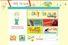 A Daily Obsession website design by Shanty Town Design