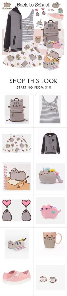 """""""#PVxPusheen"""" by streetglamour on Polyvore featuring Pusheen, Vans, contestentry and PVxPusheen"""