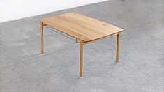 The Feynman table started as an experiment to create a structure that seemed to be born of the bevel of the top. This solution proved to be very efficient in structuring the whole piece while giving character to the table. Experiment, Industrial Design, Dining Table, Behance, Create, Top, Character, Furniture, Home Decor