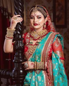 Indian Wedding Bride, Bengali Wedding, South Indian Weddings, Indian Bridal, Boho Wedding, Farm Wedding, Wedding Couples, Wedding Reception, Wedding Ideas
