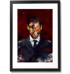 """Framed The Man in the Suit Collection No.01 Print, 16"""" X 24"""" Human Condition, The Republic, Black Wood, The Man, Suits, Solid Black, Frame, Museum, Collection"""