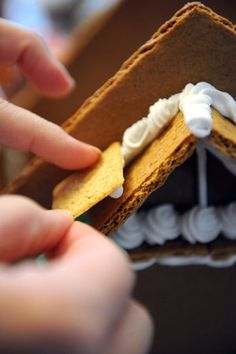 Build a gingerbread house with your child.