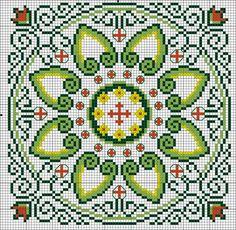 "Photo from album ""Схемы крестиком"" on Yandex. Biscornu Cross Stitch, Cross Stitch Rose, Cross Stitch Borders, Cross Stitching, Cross Stitch Patterns, Folk Embroidery, Cross Stitch Embroidery, Embroidery Designs, Blackwork"
