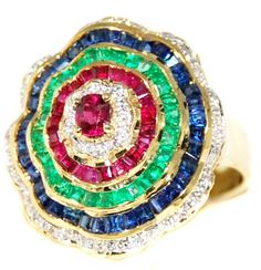 18K Yellow Gold Natural Diamond Multi Gemstone Cocktail Ring [R0059] BKGjewelry http://www.amazon.com/dp/B00CHJKGLK/ref=cm_sw_r_pi_dp_g9ZWtb0S219E7TM3