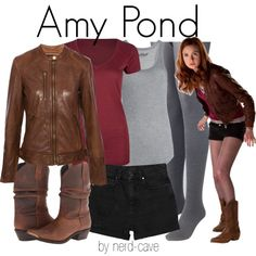 """""""Amy Pond [Doctor Who]"""" by nerd-cave on Polyvore"""