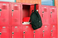 locker, red, and back pack image
