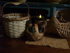 mini egg baskets and small shaker basket