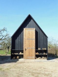 modern barn with black exterior siding by faro architects #contemporary #barn  #architecture