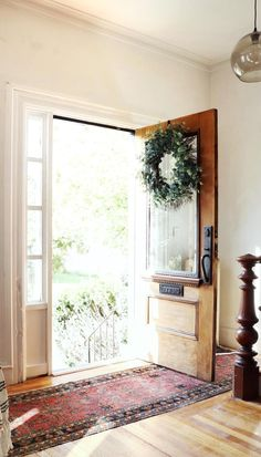 Dressing Up a Drab Front Door and Keeping the Charm of an Older Home