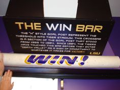 LSU Win Bar So ready for football season Lsu Tigers Football, Football Fans, Football Season, Lsu Game, Tiger Stadium, Florida Panthers, Way Of Life, 4 Life, World Of Sports