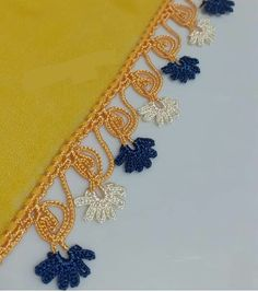 Crochet Lace, Crochet Necklace, Gold, Jewelry, Ribbon Crafts, Crocheting, Needlepoint, Jewlery, Jewerly