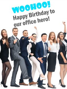 Send Free To Our Office Hero! Funny Birthday Card to Loved Ones on Birthday & Greeting Cards by Davia. It's free, and you also can use your own customized birthday calendar and birthday reminders. Happy Birthday Wishes Cards, Happy Birthday Funny, Birthday Messages, Funny Birthday Cards, Birthday Greeting Cards, Birthday Message For Boss, Boss Birthday, Birthday Reminder, Birthday Calendar