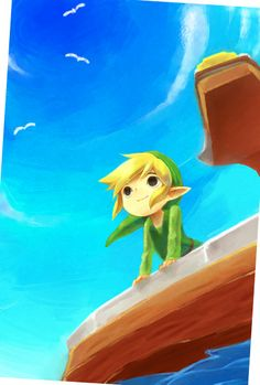 I love all these Wind Waker pictures I'm finding. So colorful and full of lovely shades of blue in big spaces.