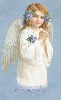 vintage Easter angel...