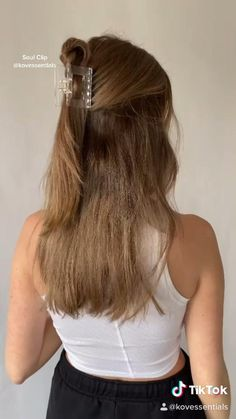 Clip Hairstyles, Easy Hairstyles For Long Hair, Pretty Hairstyles, Hairstyles For Nurses, Bangs For Long Hair, Hairstyle For Medium Length Hair, Casual Updos For Medium Hair, Straight Hairstyles For Long Hair, Simple Hairstyles For Medium Hair