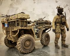 1/6 ATV - Album on Imgur Military Guns, Military Vehicles, Scale Models, Airfix Models, Offroad, Military Action Figures, Military Special Forces, Tac Gear, Green Beret