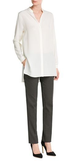 Effortlessly elegant, this oversized silk blouse from Etro adds of-the-moment polish to your office-ready attire #Stylebop