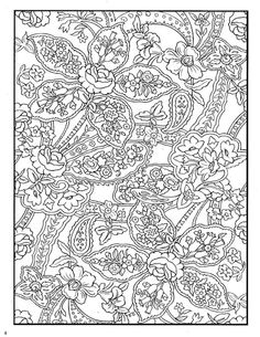 ru / Фото - Paisley Designs Coloring Book by Marty Noble - tymannost Pattern Coloring Pages, Printable Adult Coloring Pages, Flower Coloring Pages, Animal Coloring Pages, Coloring Book Pages, Coloring Sheets, Dover Publications, Floral Illustrations, Abstract