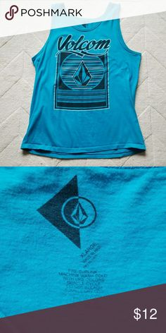 Men's XL Bright Blue Volcom Tank Excellent used condition men's XL Volcom tank. Back has no print on it. Volcom Shirts Tank Tops
