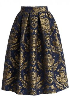 Beautiful baroque midi skirt