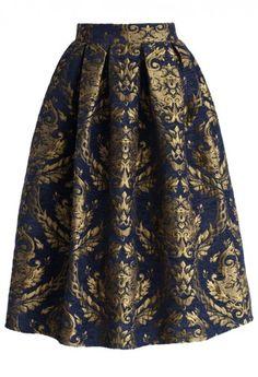 Beautiful baroque midi skirt