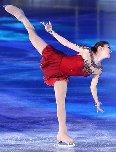 Yuna Kim, All That Skate 2014, - Red Figure Skating / Ice Skating dress inspiration for Sk8 Gr8 Designs.