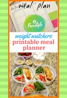 weight watchers printable meal planner | weight watchers cooking