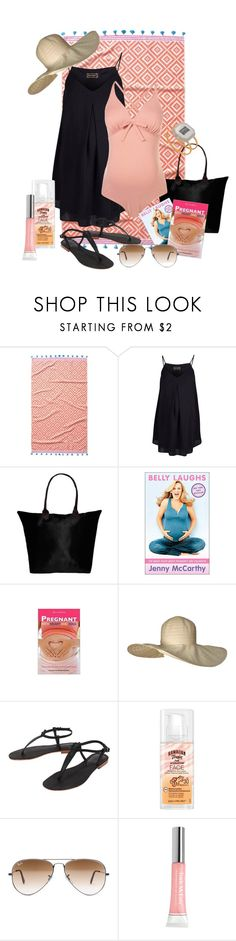 """Beach Maternity Contest"" by kmacpink ❤ liked on Polyvore featuring John Robshaw, Rock-a-Bye Rosie, Peach Couture, Cocobelle, Hawaiian Tropic, Ray-Ban, Trish McEvoy, women's clothing, women's fashion and women"