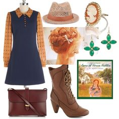Perfect #outfit for Anne of Green Gables in this entry for the Book Look fashion contest