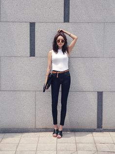 the-streetstyle:   dark denim... A Fashion Tumblr full of Street Wear, Models, Trends & the lates