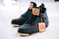 Jordan Brand Announces Release Details for White and Black Levi's x Air Jordan 4