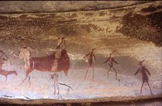 San Rock Paintings of Therianthropes and Eland from Battle Cave